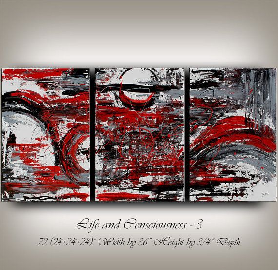 Hey, I found this really awesome Etsy listing at https://www.etsy.com/listing/207571380/original-large-red-abstract-painting