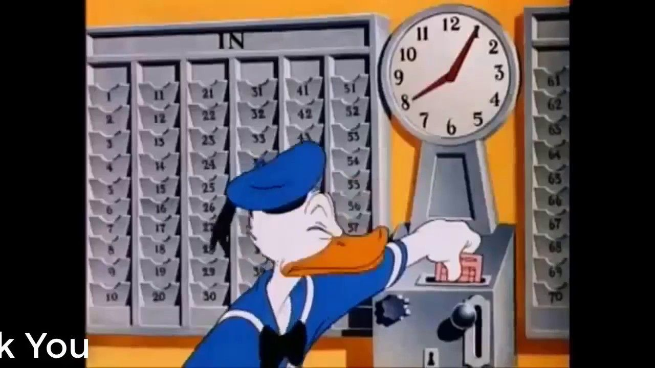 donald duck the clock
