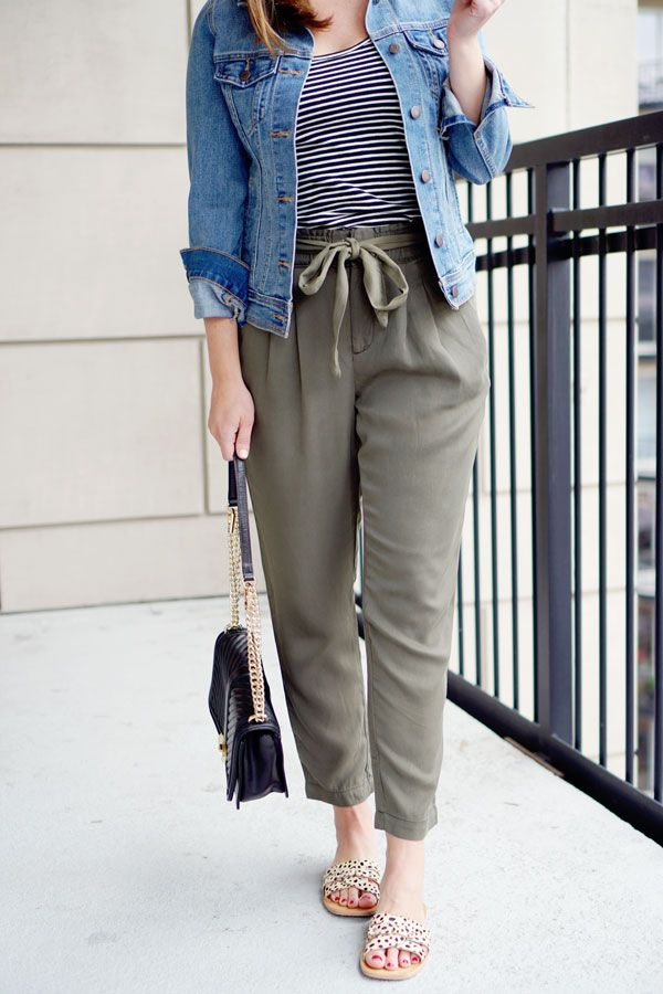 my everyday style: 3 ways to style paper bag pants for spring/summer!
