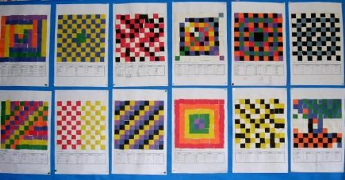 math grids using a 10 by 10 grid each student created their own