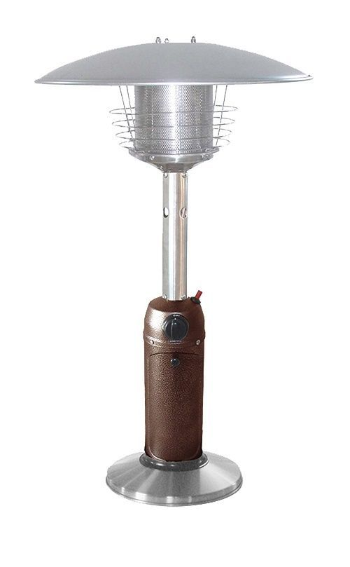 Outdoor Patio Heater Tabletop Gas Heat Lamp Propane Pool Area Heat Light Bronze Unbranded Tabletop Patio Heater Gas Patio Heater Propane Patio Heater