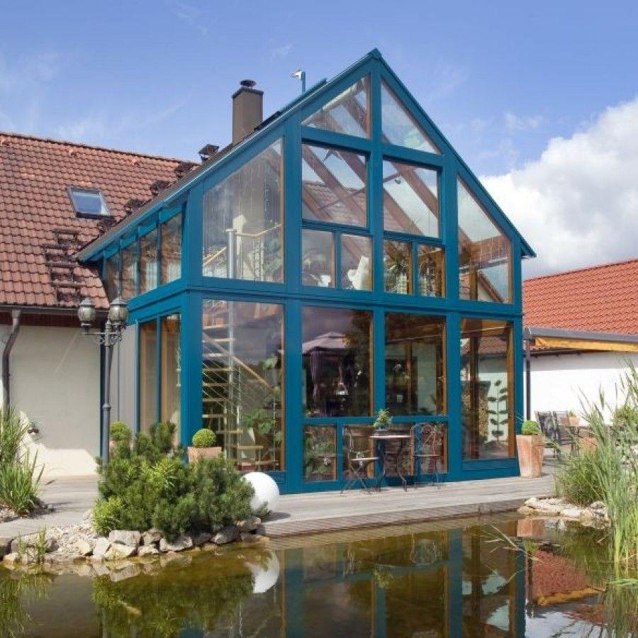 wohnraumerweiterung mit komfort im zweigeschossigen wintergarten, Wohnzimmer