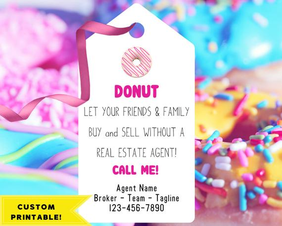 picture regarding Printable Pop by Tags known as SALE! Correct Estate Donut Tags Printable Pop By way of Reward Real estate agent