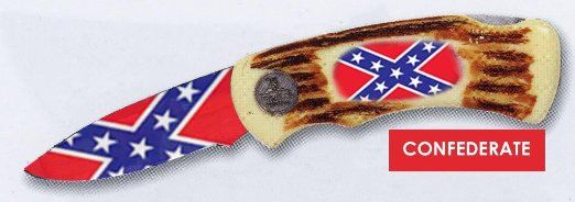 Knife handles with rebel flag - Google Search