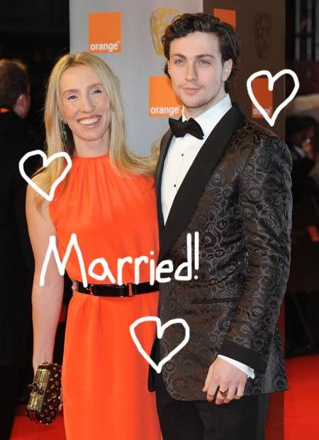 Why is aaron johnson dating an old woman