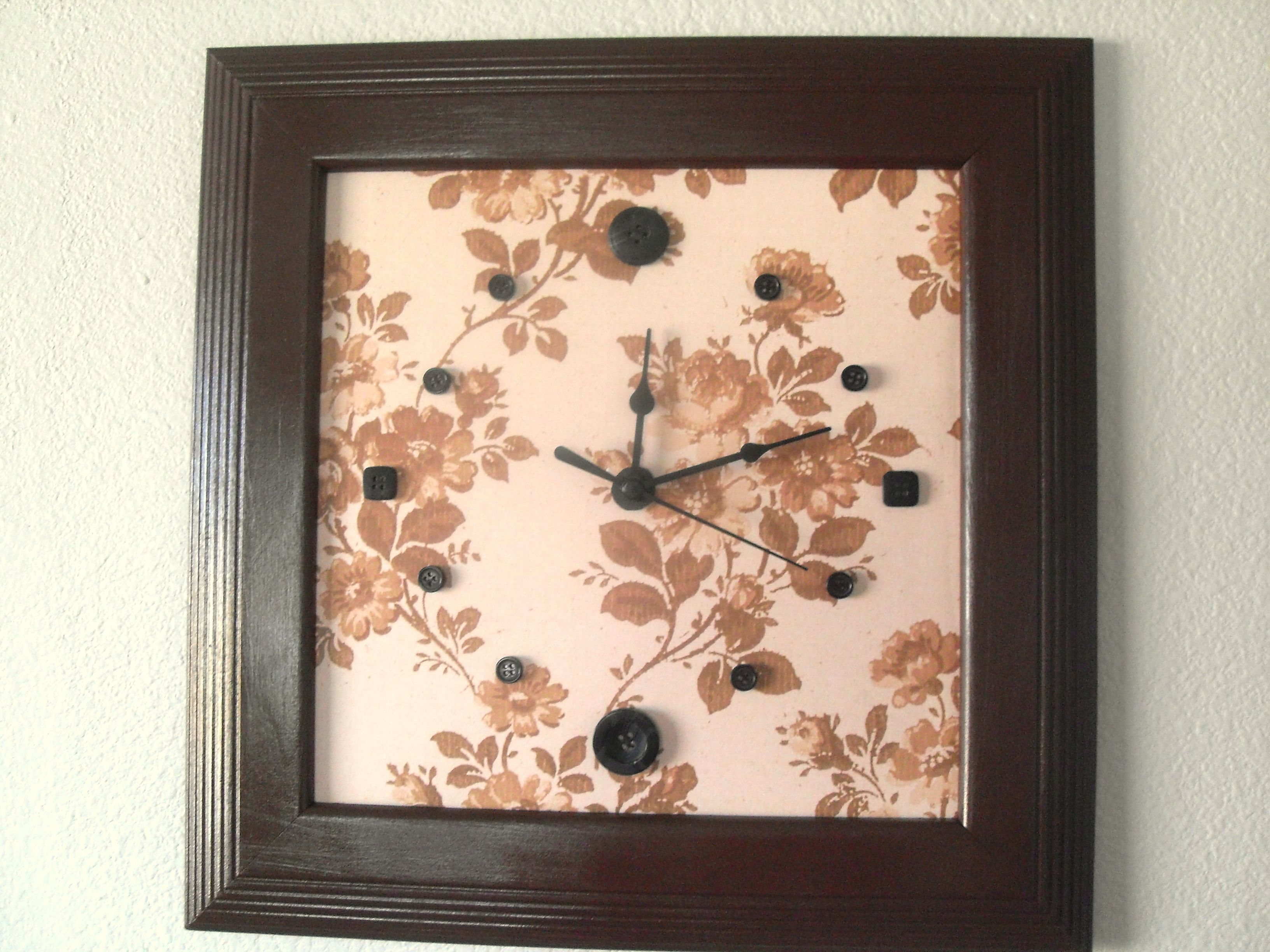 picture frame clock buttons | I made it | Pinterest | Knöpfe, Bilder ...