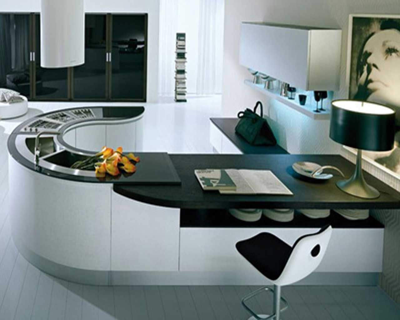 Exceptionnel Latest Interior Design Of Kitchen Photo
