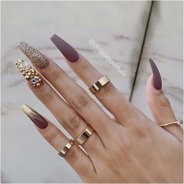 41 Tasteful Ways to Wear Long Coffin Nails | Page