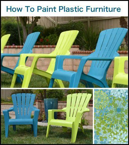 comment peindre des chaises de jardin en plastique diy d co pinterest mobilier de salon. Black Bedroom Furniture Sets. Home Design Ideas