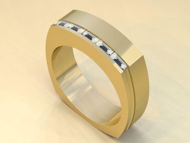 Man S Wedding Band 14kt Yellow Gold With Diamonds Theweddingmile