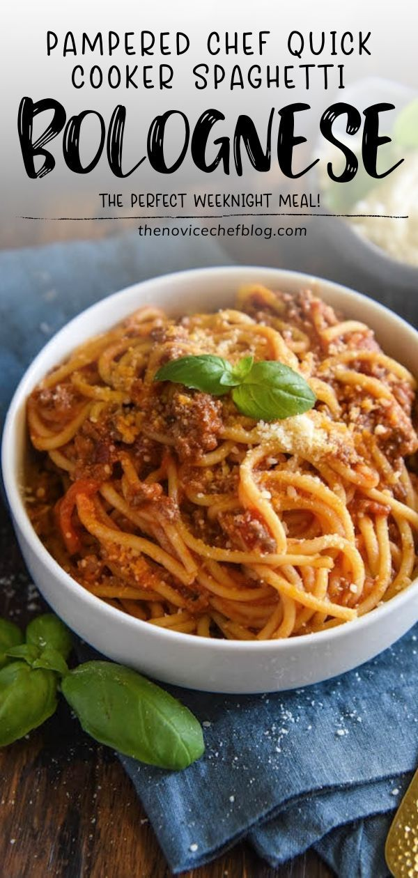 Photo of PAMPERED CHEF QUICK COOKER SPAGHETTI BOLOGNESE