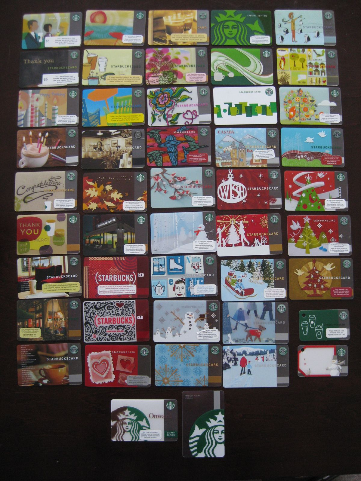 There Are A Lot Of Starbucks Fans Who Collect Starbucks Cards What