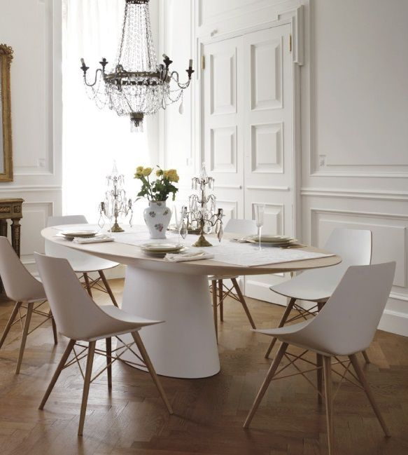 Awesome French Dining Room, Blending The Classical Apartment With Contemporary  Furniture.