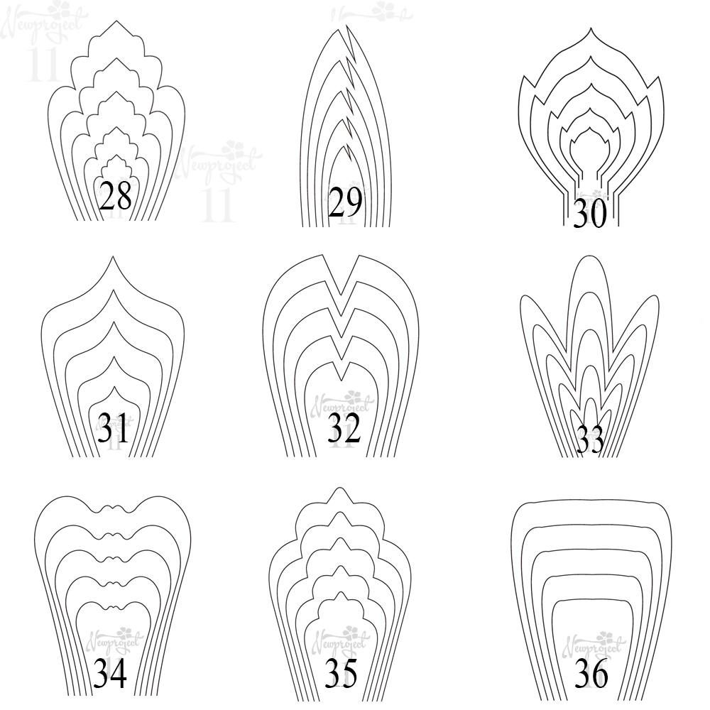 All flower pdf templates free 3 leaf template handmade