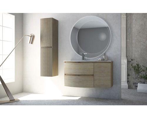 Badezimmer Led ~ Led lichtspiegel mit kosmetikspiegel 100 cm 45011 bei hornbach