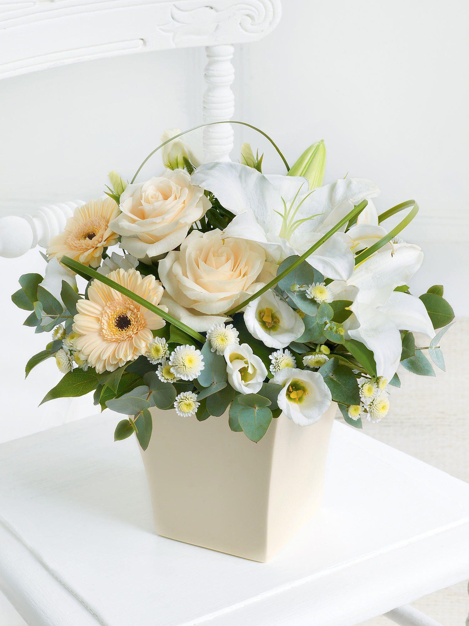 Cream Exquisite Arrangement Interflora 플로리스트, 꽃꽂이, 아름다운 꽃