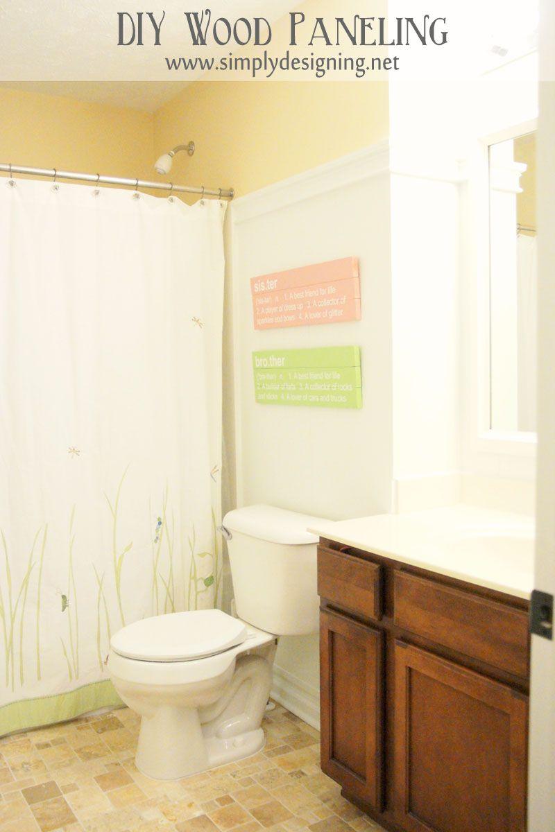 DIY Wood Paneling | Bloggers\' Best DIY Ideas | Pinterest | Bathroom ...