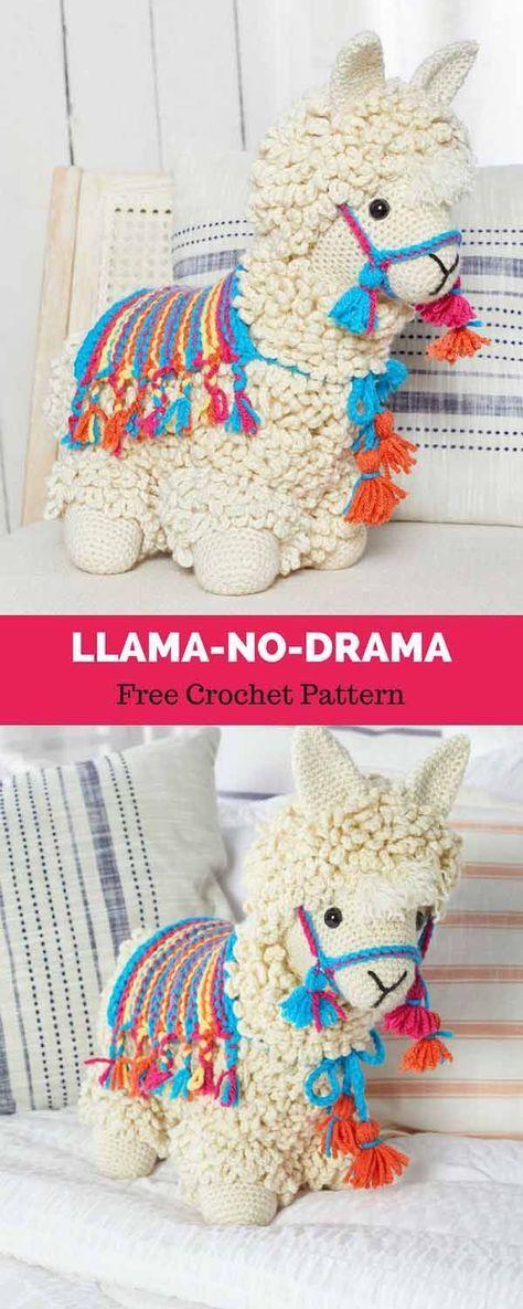 Llama No Drama Free Crochet Pattern Bordes De Ganchillo