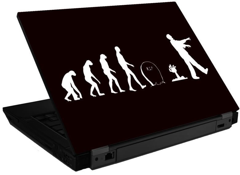 Zombie Evolution Laptop Skin