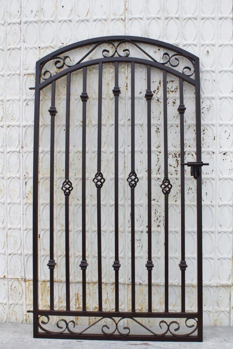 Antique Style Metal Gateway Custom 42 X 60 Etsy In 2020 Iron Gate Design Wrought Iron Gate Iron Gate