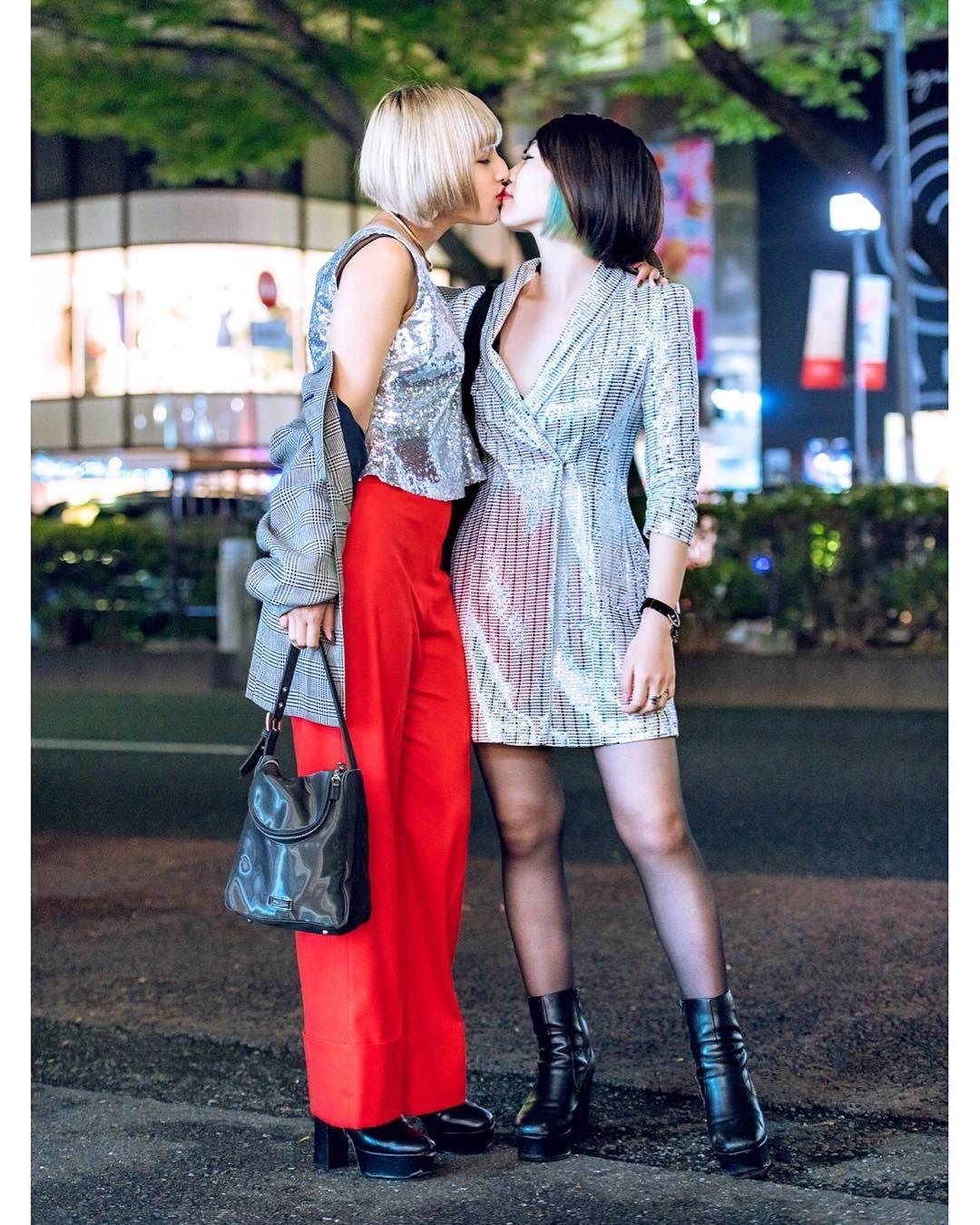 Japanese lesbians in thigh high socks