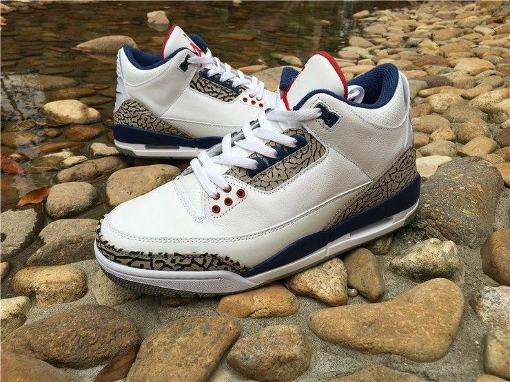 "Air Jordan 3 Retro ""True Blue"" jordandepot jordanshoes"