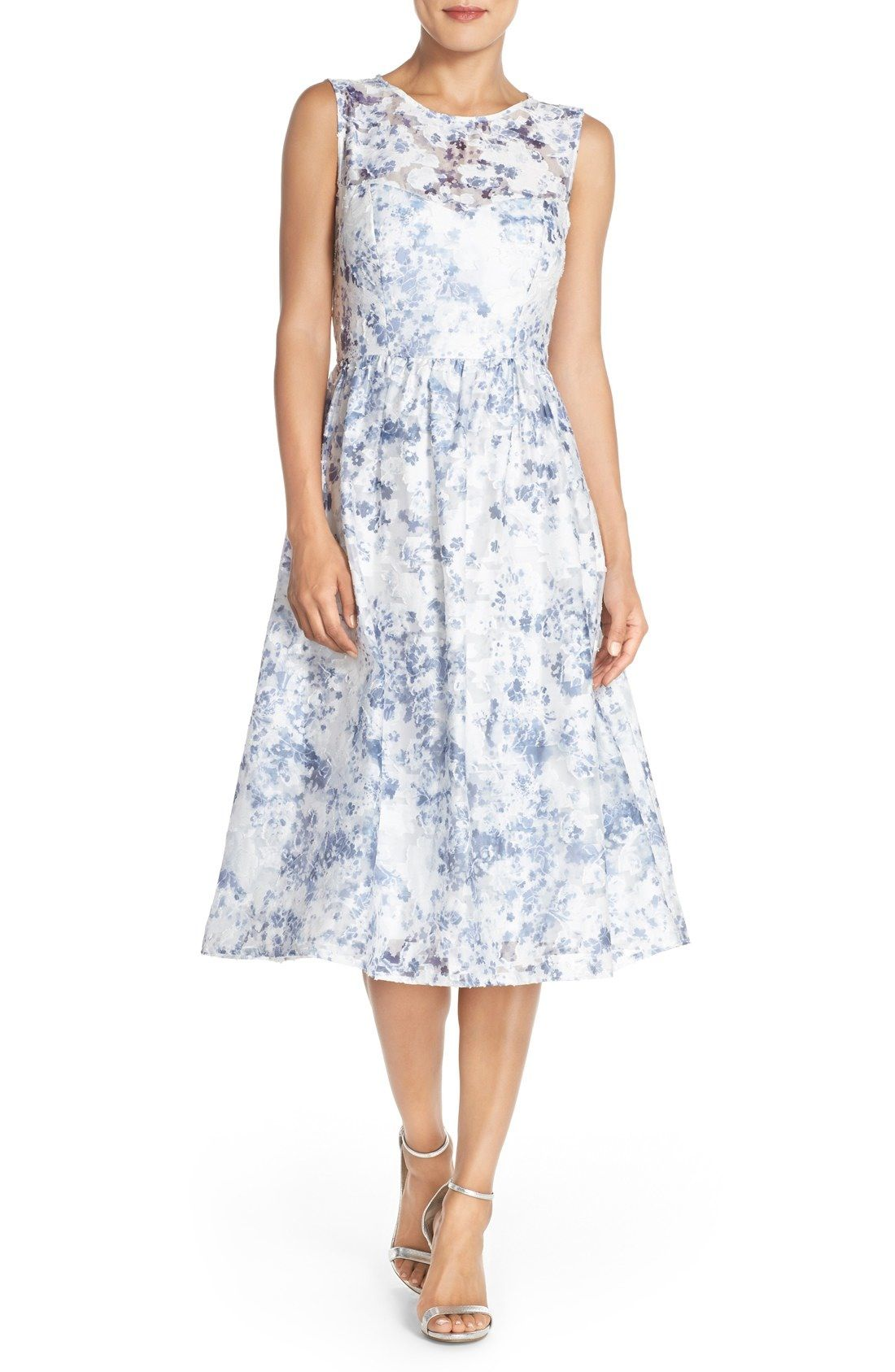 52c7f4f99d ECI Embroidered Mesh Midi Dress available at  Nordstrom
