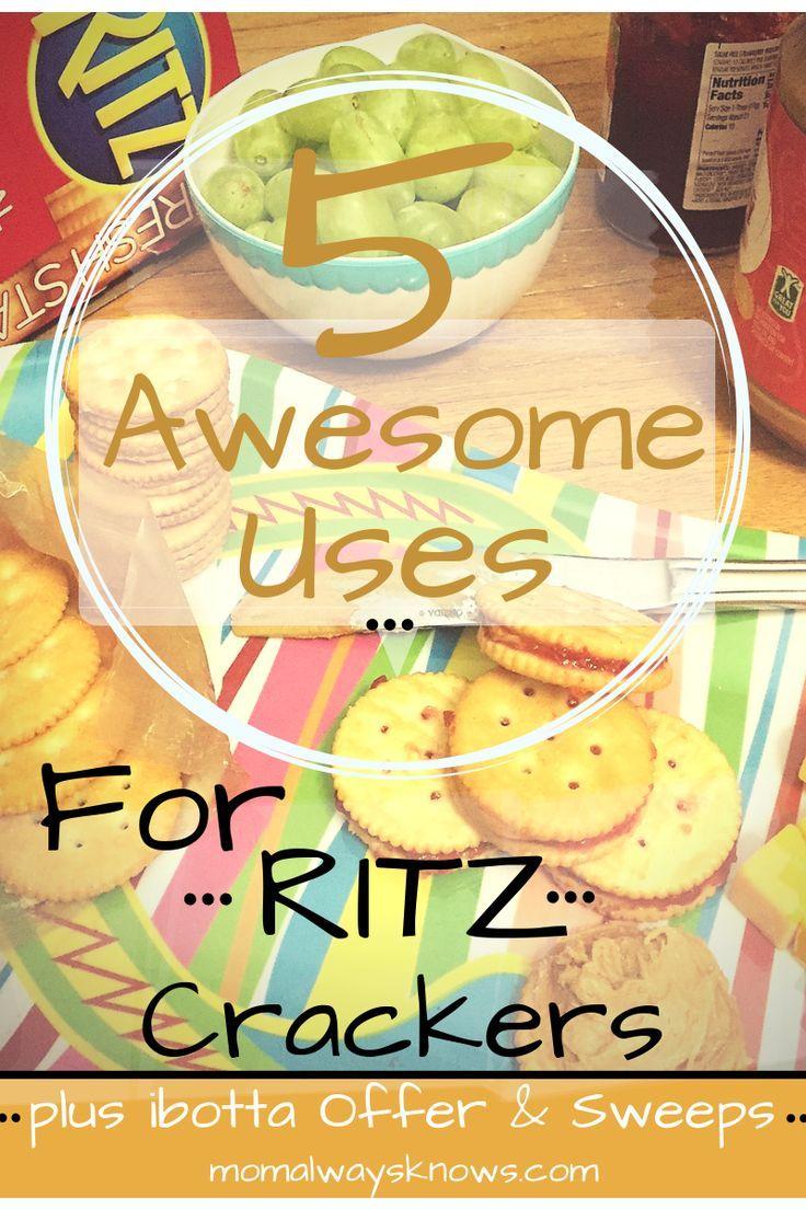 5 uses for ritz crackers plus bonus ibotta offer