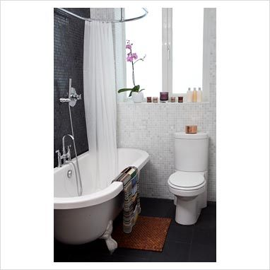 Roll Top Bath With Shower