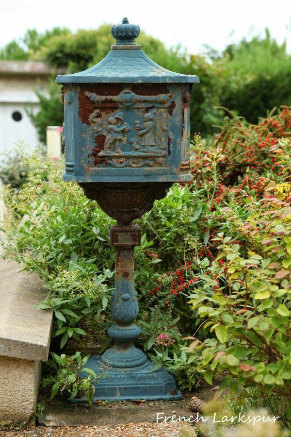 French Larkspur: Old mailbox in  Villerville, France~❥