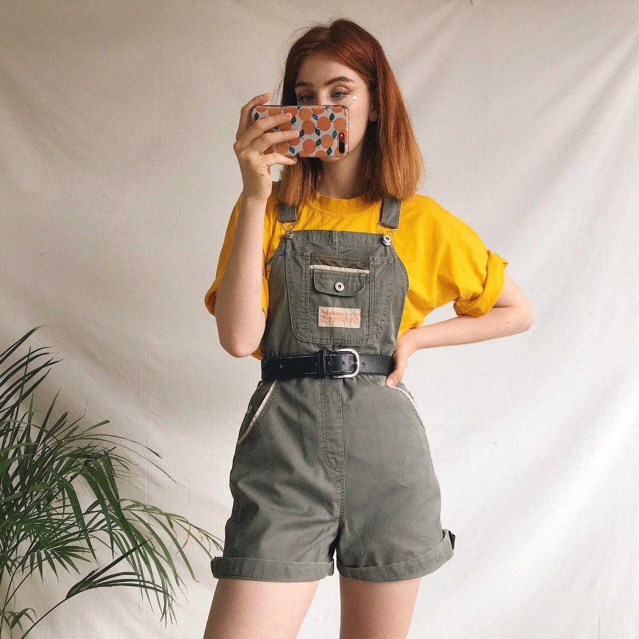 Adorable true vintage mini dungarees overalls.... - Depop