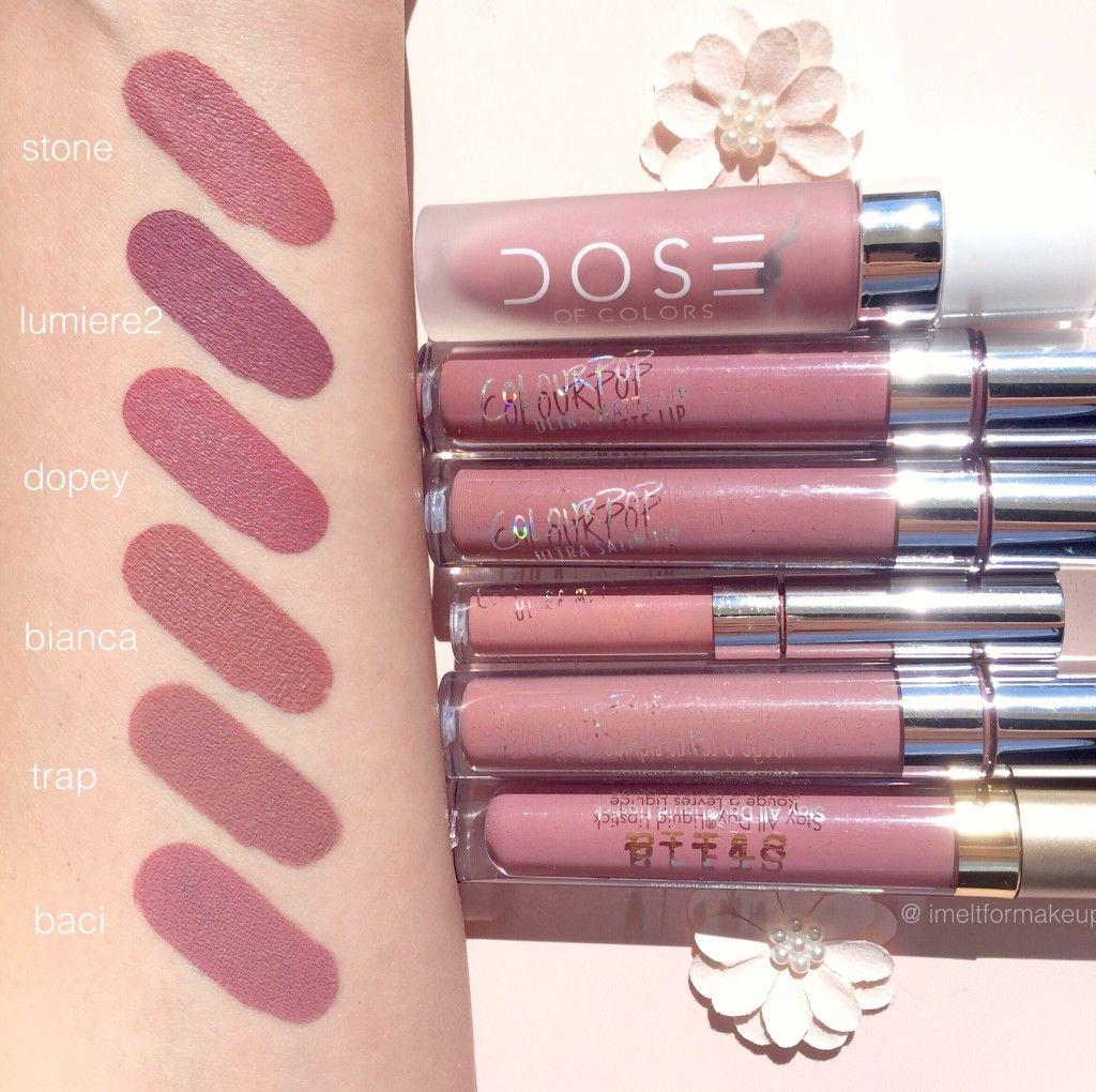 Dose of Colors Stone Liquid Lipstick Dupes - All In The Blush #doseofcolorsliquidlipstick
