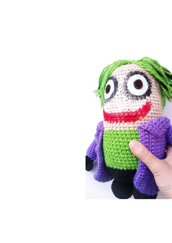JOKER BATMAN PLUSH 9 inches amigurumi doll inspired por Kutuleras ...