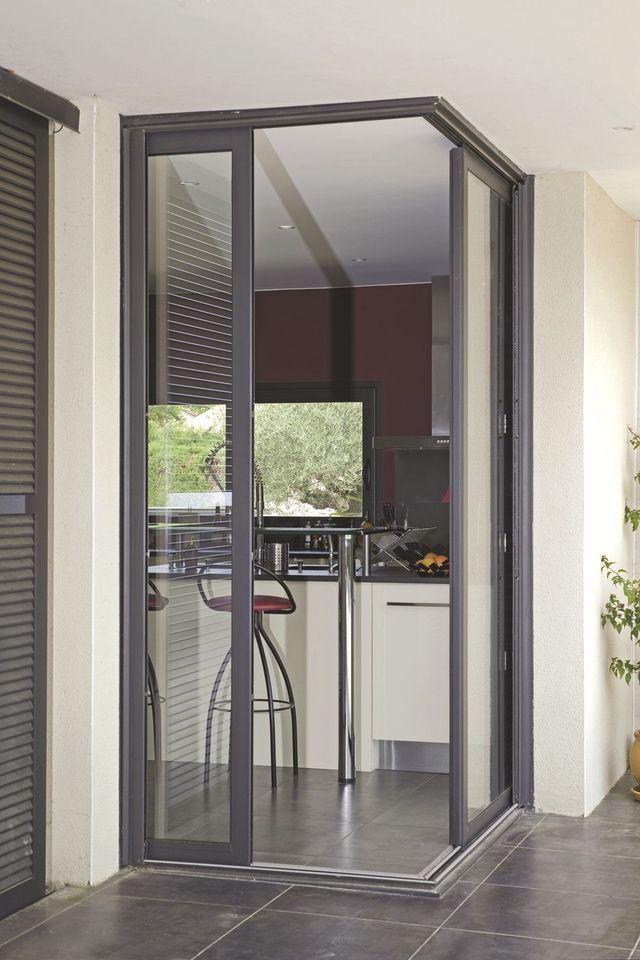 Baie vitrée : porte à galandage, porte-fenêtre accordéon ... | Porte galandage, Baies vitrées et ...