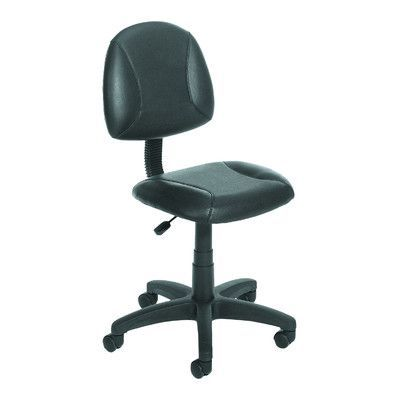 Boss Office Products Leather Desk Chair Arms: Not Included, Headrest Included: No