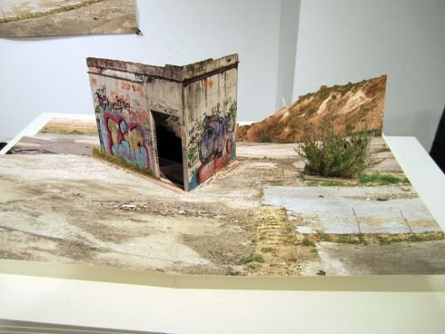 Pop-Up Books, Andreas Johansson Photo collage, desolate landscapes, skateboard industrial landscapes, VoltaNY