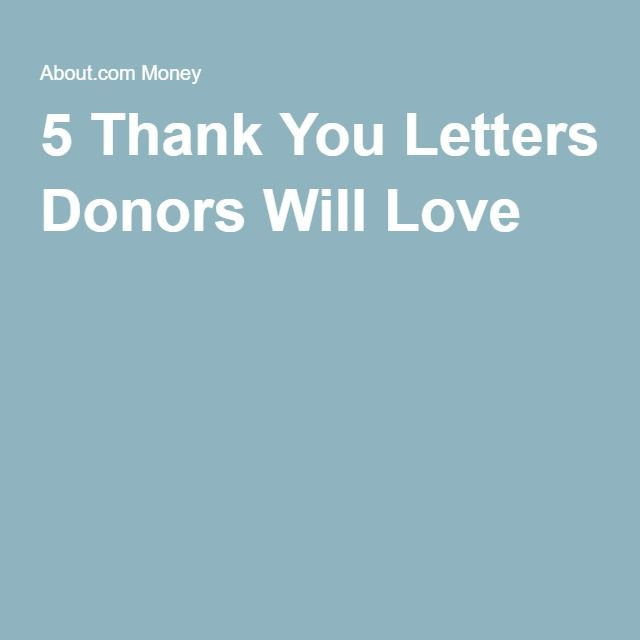 Thank You Letters Donors Will Love  Nonprofit Fundraising And