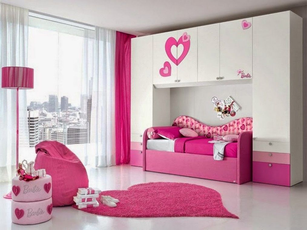 Barbie Girls Pink Theme Room Design Id929 Girls Bedroom Interior
