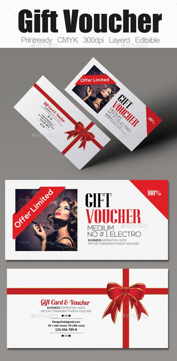 Multi Use Business Gift Voucher | Print templates, Font logo and ...