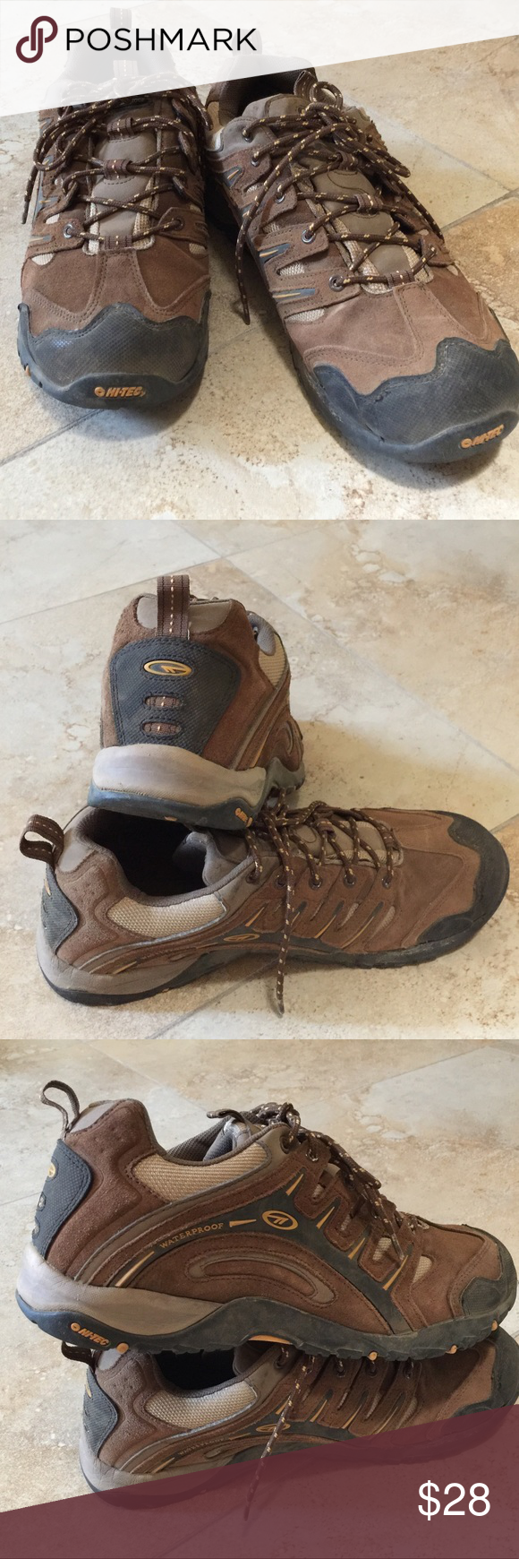 Hi-Tec man's shoes size 12. Used but great condition, brown color. Hi-Tec Shoes Sneakers