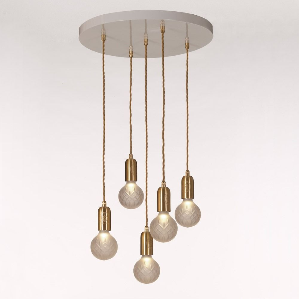 Frosted Crystal Bulb Chandelier Lee BroomCeiling Fan