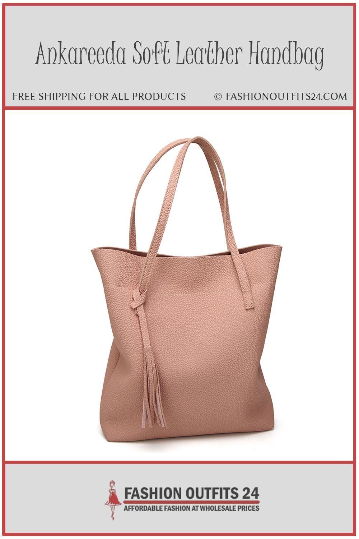 f88b479504f4 Ankareeda Girls And 39s Soft Leather Handbag High Quality Ladies Shoulder  Bag Luxury Brand Tassel Bucket