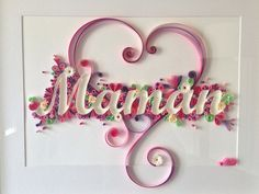 Cadre 'Maman' quilling entièrement personnalisable : Décorations murales par made-in-paper                                                                                                                                                                                 Plus