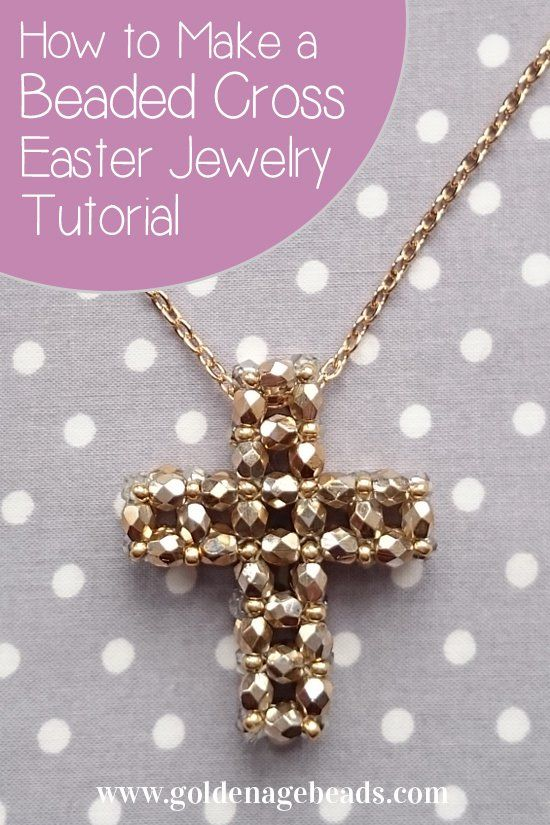 Photo of Easter Jewelry Making Tutorial – How to Make a Beaded Cross | Golden Age Beads