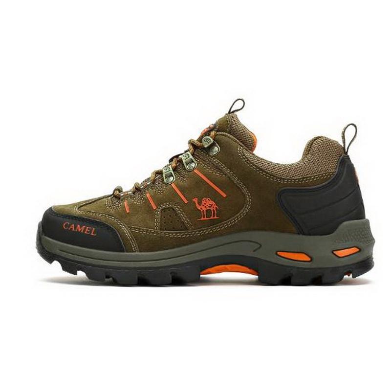 Men's Hiking Shoe Antiskid Rubber Lace Up Trekking Sneakers Sports