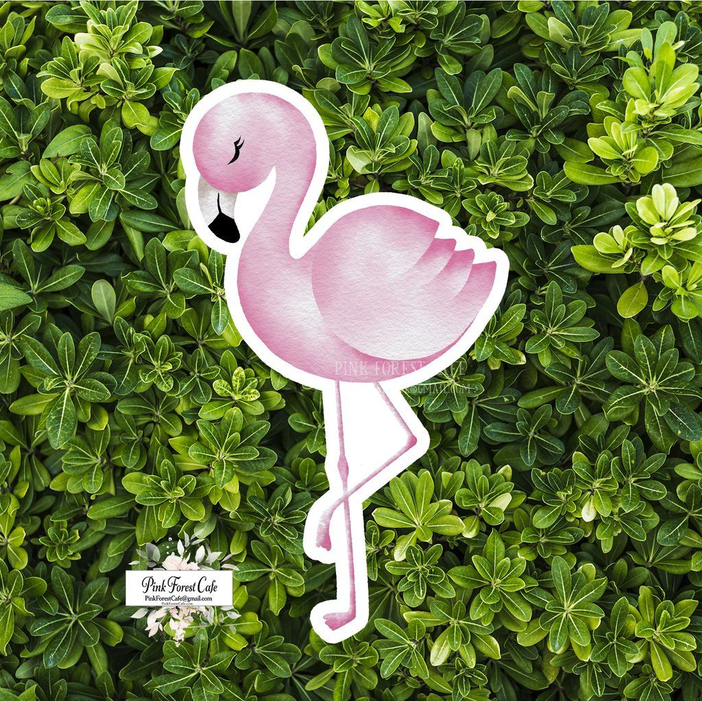 Pink Flamingo Sticker Decal Car Water Bottle Laptop Guitar Vinyl Waterproof Inspirational Stick On Pink Flamingos Pink Forest Stickers Custom [ 1022 x 1024 Pixel ]