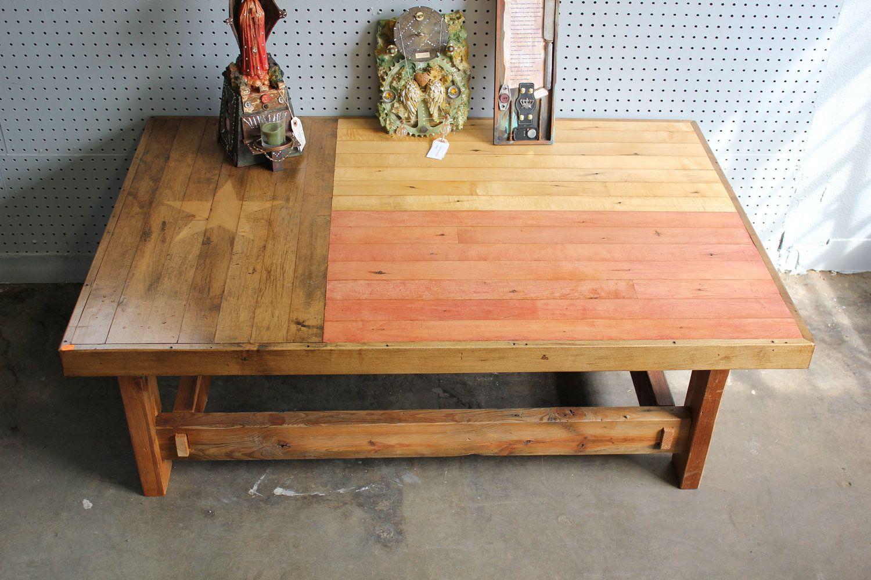 Texas flag coffee table.. $800.00, via Etsy. | Real Wood Furniture ...