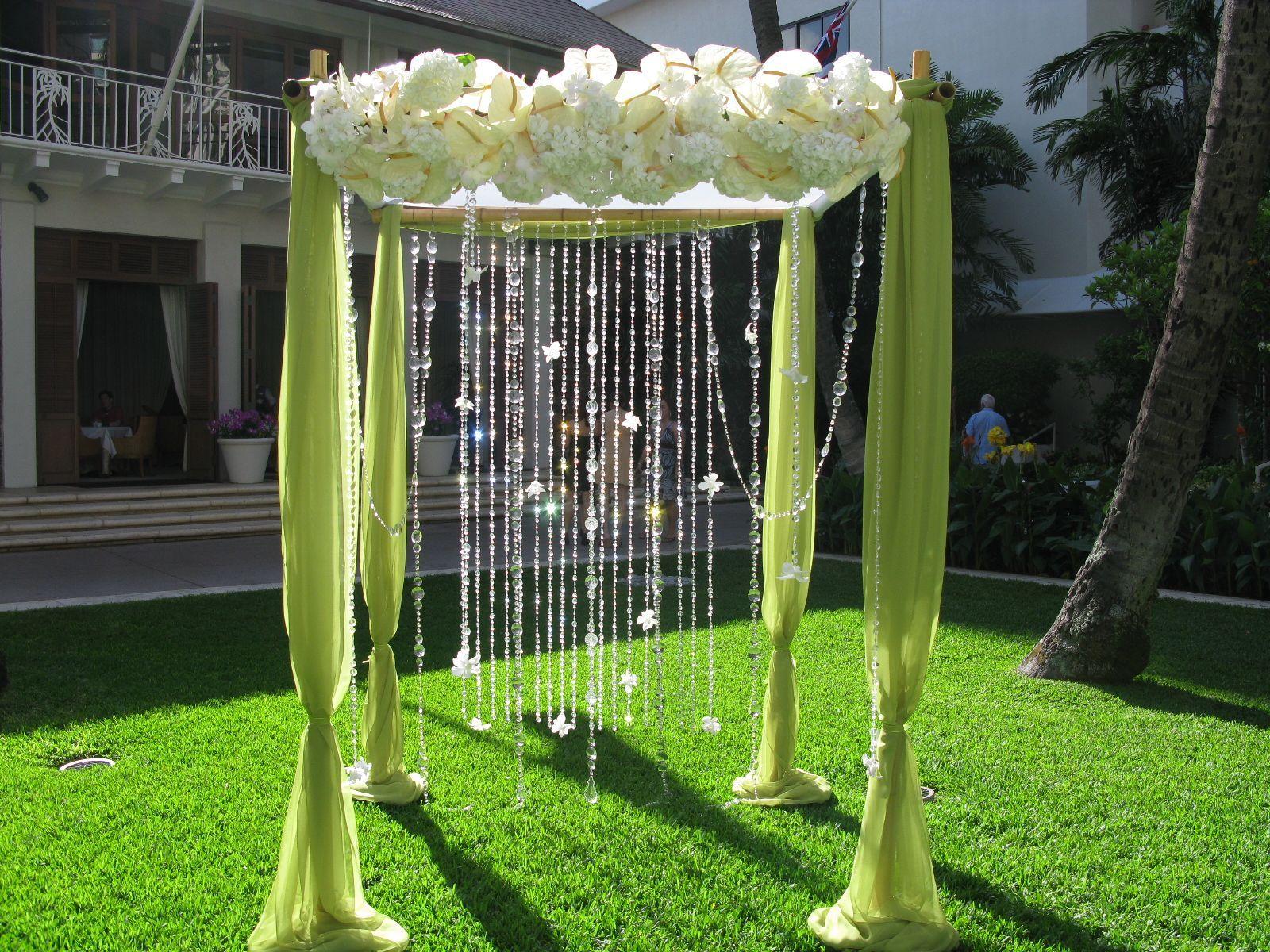 Wedding decorations arch  so cool  Party Ideas  Pinterest  Arbors Hydrangea and Wedding arbors
