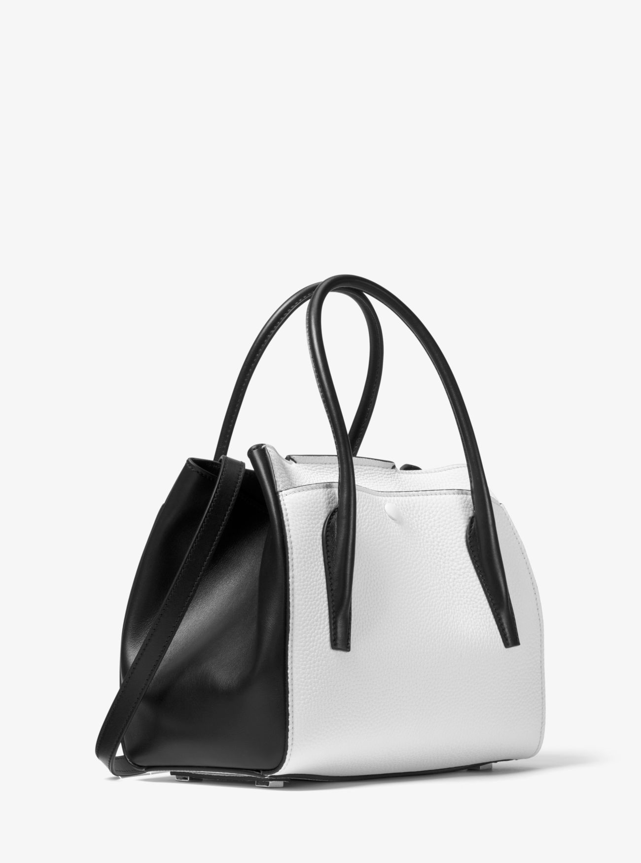 ec49d9506379 Michael Kors Bancroft Medium Calf Leather Satchel - Optic White ...