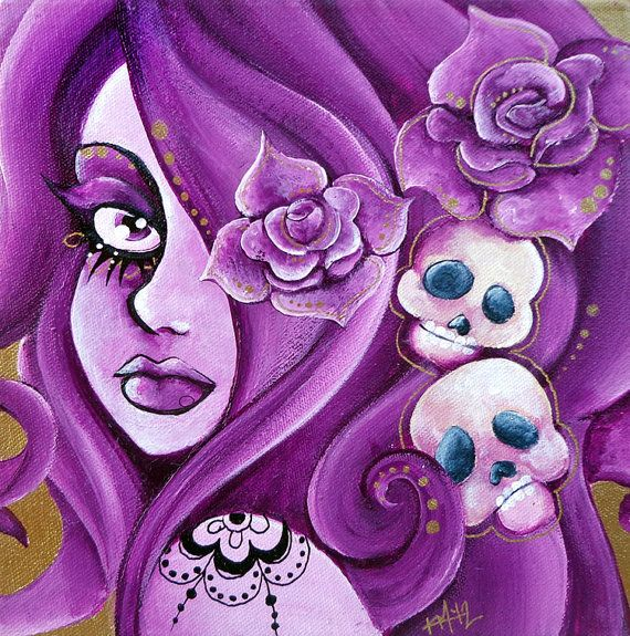 ☆ Day of the Dead Pinup Girl :¦: Artist Karla Magana ☆